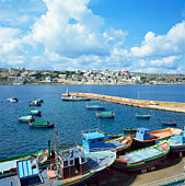 Boats in Saint Paul's Bay, Malta