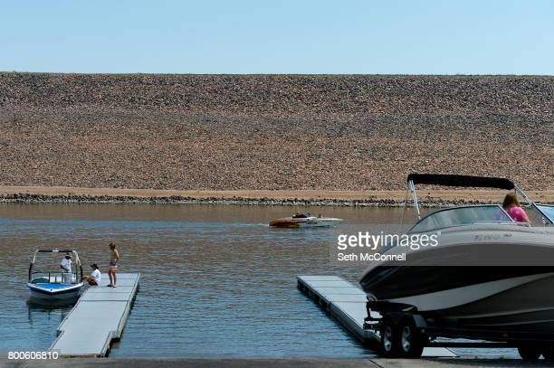 Boats in the south boat ramp at Chatfield Reservoir on June 22 in Littleton Colorado The Army Corp of Engineers has decided Chatfield Reservoir can...