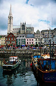 Boats moored at a harbor, Cobh County, Cork, Ireland