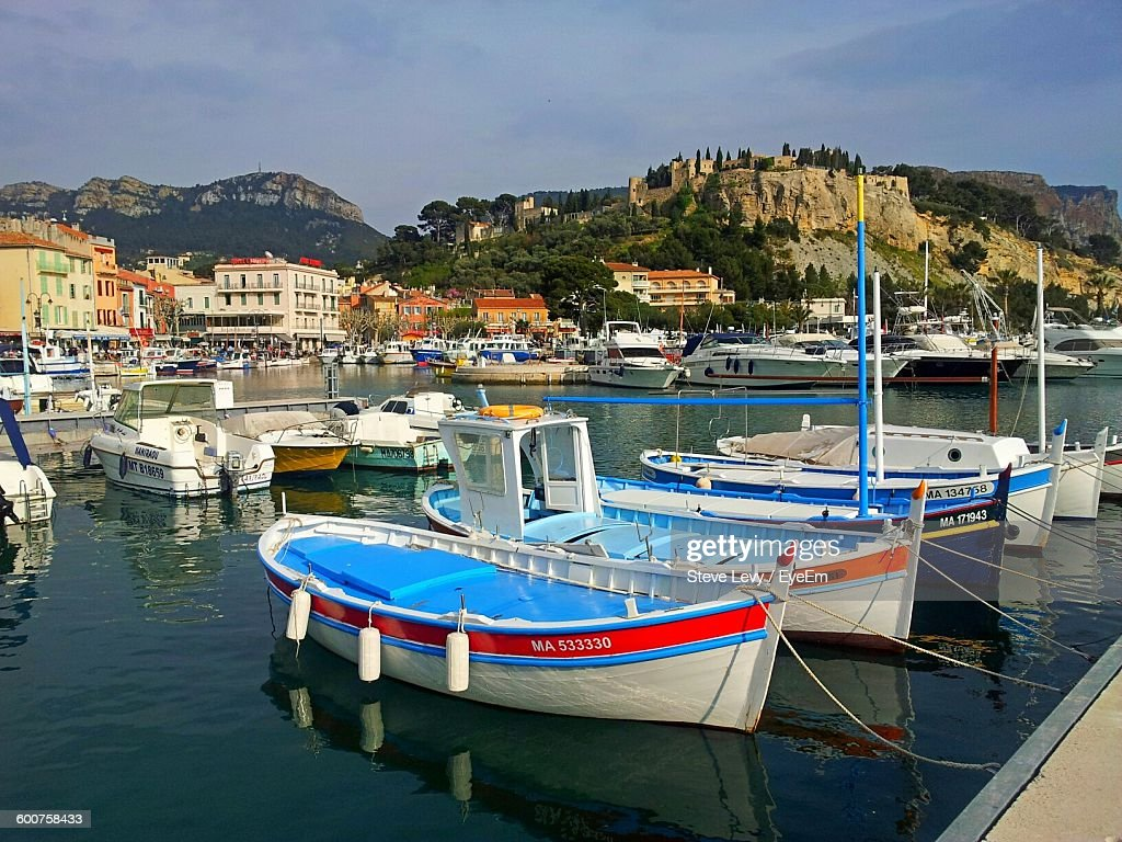 Boats Moored At Cassis