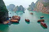 Boats of Halong Bay