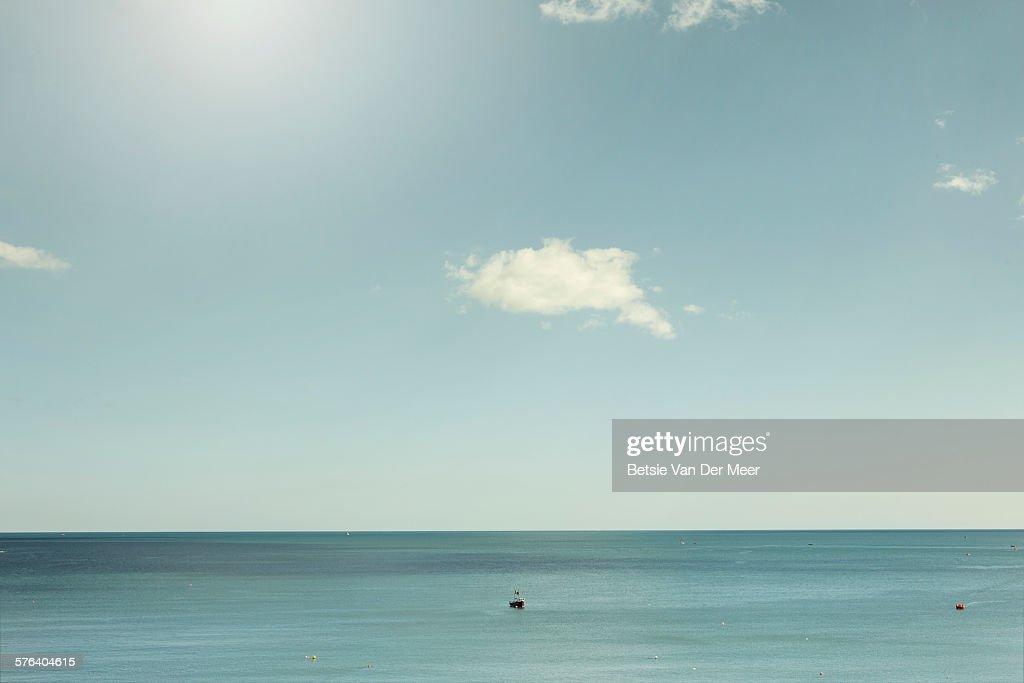 Boats on calm sea on a sunny days