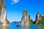 Boats on Ha Long Bay, Vietnam
