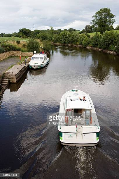 Boats on Shannon-Erne Waterway, near Ballyconnell.