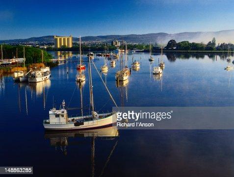 Boats on the Tamar River - Launceston, Tasmania
