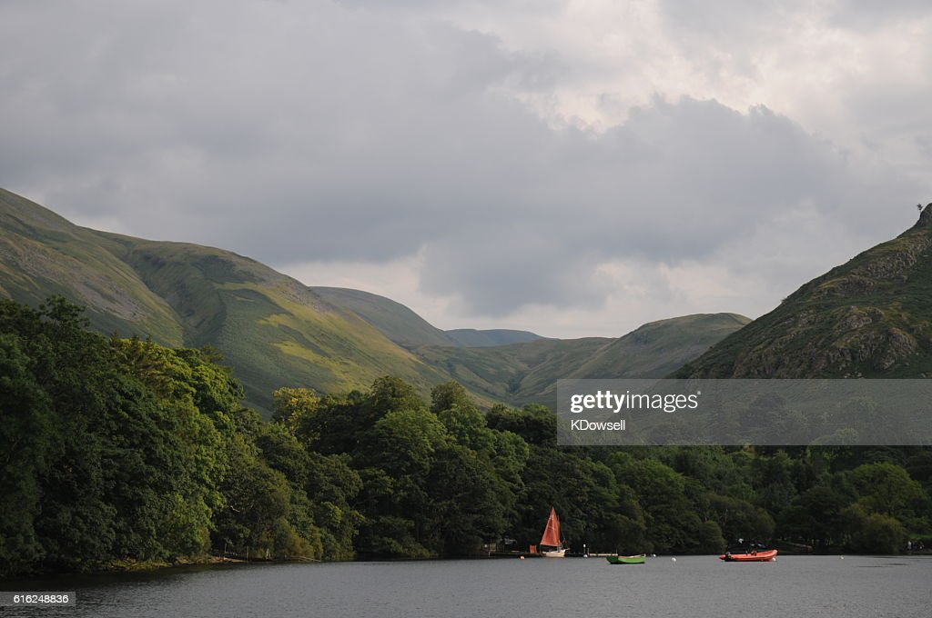 Boats on Ullswater : Stock Photo