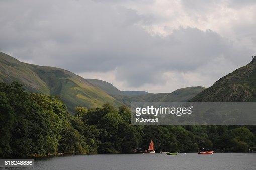 Boats on Ullswater : Stock Photo
