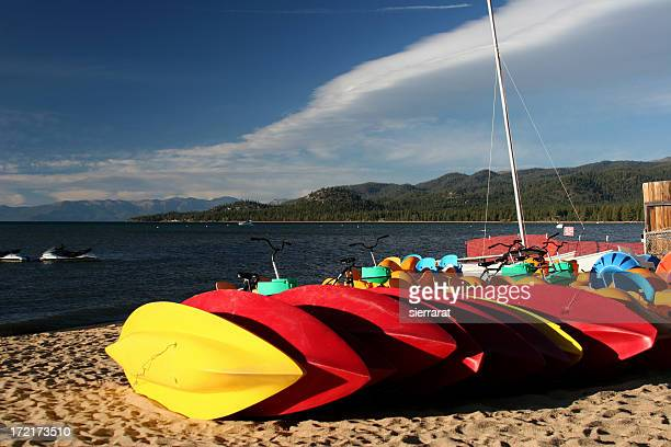 Boats, Red and Yellow