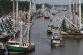Boats seeking safe harbor from Tropical Storm Isaac fill the Industrial Canal in Gulfport Mississippi on Monday August 27 2012