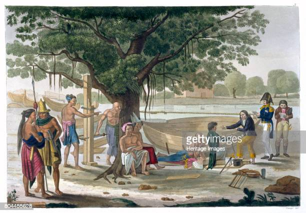 Boatyard near Kupang Timor Indonesia c18201839 Plate 9 from Le Costume Ancien et Moderne by Jules Ferrario Artist Unknown