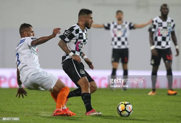 Boavista FC forward Rui Pedro from Portugal with GD Estoril Praia defender Lucas Cavalcante from Brazil in action during the Primeira Liga match...