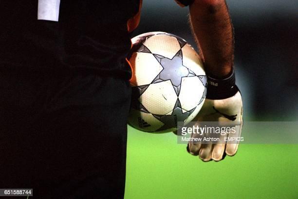 Boavista goalkeeper Ricardo holds the matchball