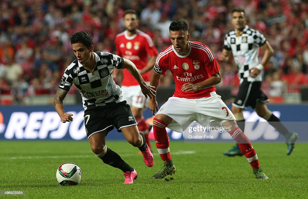 BoavistaÕs forward Renato Santos in action during the Primeira Liga match between SL Benfica and Boavista at Estadio da Luz on November 8, 2015 in Lisbon, Portugal.