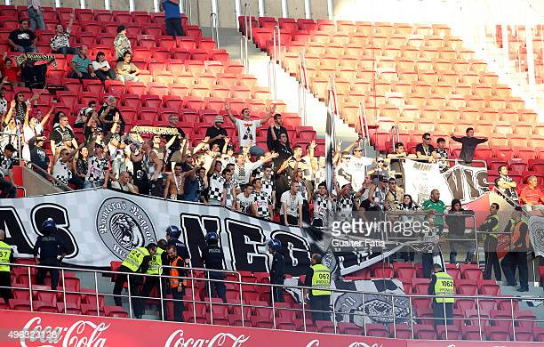 Boavista's supporters during the Primeira Liga match between SL Benfica and Boavista at Estadio da Luz on November 8 2015 in Lisbon Portugal