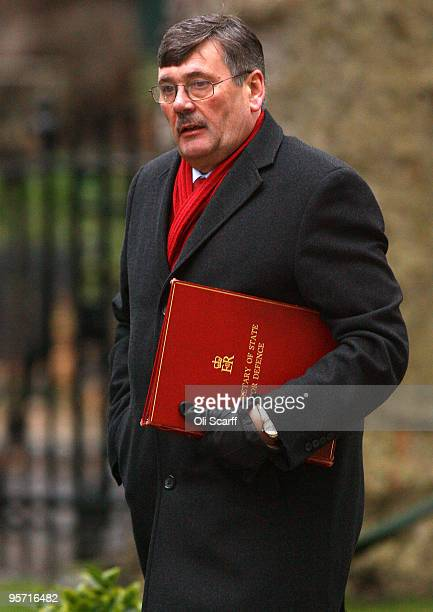 Bob Ainsworth the Secretary of State for Defence arrives in Downing Street on January 12 2009 in London England The Home Secretary Alan Johnson has...
