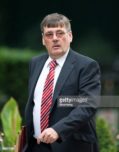 Bob Ainsworth UK defence secretary arrives for the weekly cabinet meeting at number 10 Downing Street in London UK on Tuesday June 23 2009...