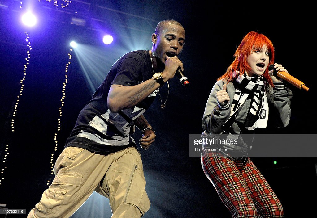 BoB and Hayley Williams of Paramore perform as part of 1079 The End Jingle Ball 2010 at Arco Arena on December 3 2010 in Sacramento California