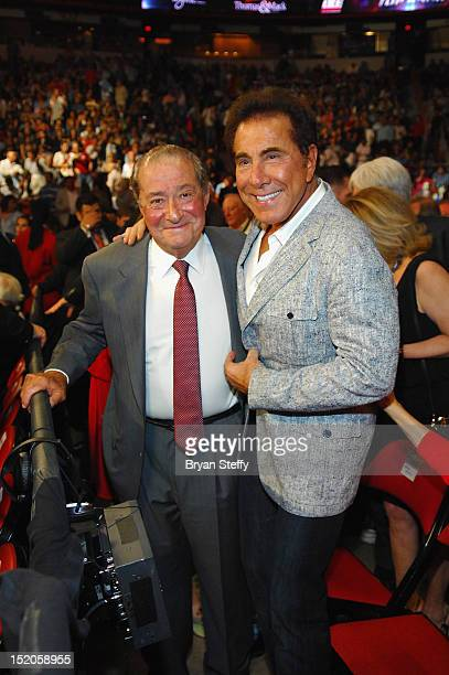 Bob Arum and Steve Wynn attend the Chavez Jr vs Martinez Fight at the Thomas Mack center cosponsored by the Wynn Las Vegas on September 15 2012 in...