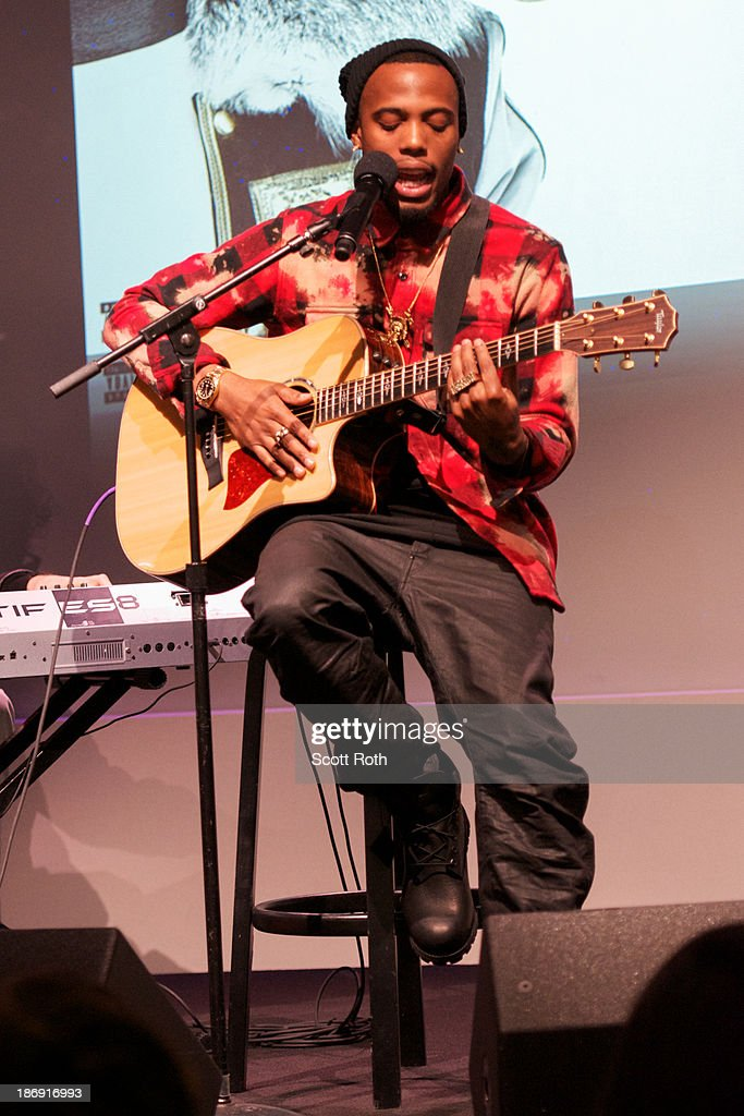 B.o.B at the Apple Store Soho on November 4, 2013 in New York City.