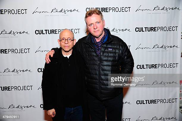 Bob Balaban and Aidan Quinn attend the opening night of 'The Real Americans' at the Lynn Redgrave Theatre on March 18 2014 in New York City