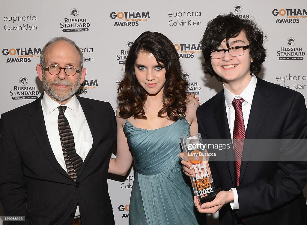 Bob Balaban, Kara Hayward, and Jared Gilman attend the IFP's 22nd Annual Gotham Independent Film Awards at Cipriani Wall Street on November 26, 2012 in New York City.