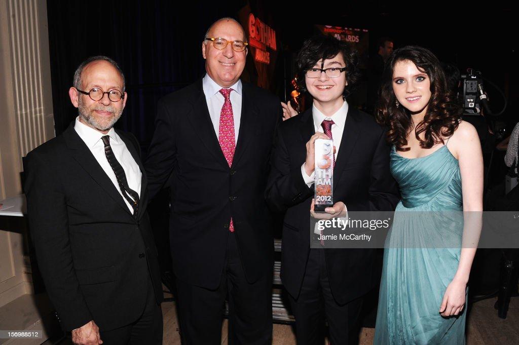 Bob Balaban, Steven Rales, Jared Gilman, and Kara Hayward attend the 22nd Annual Gotham Independent Film Awards at Cipriani Wall Street on November 26, 2012 in New York City.
