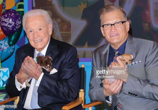 Bob Barker and Drew Carey attend the set of 'The Price Is Right' to celebrate Bob Barker 90th Birthday at CBS Television City on November 5 2013 in...