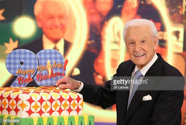 Bob Barker attends the set of 'The Price Is Right' at CBS Television City on November 5 2013 in Los Angeles California