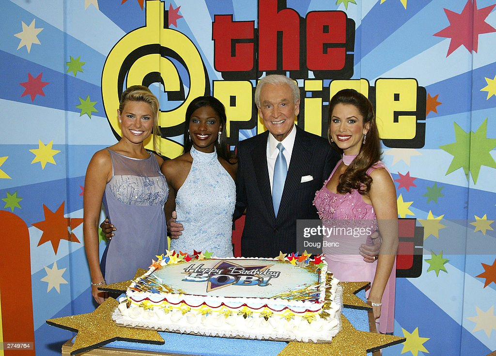 <a gi-track='captionPersonalityLinkClicked' href=/galleries/search?phrase=Bob+Barker&family=editorial&specificpeople=210681 ng-click='$event.stopPropagation()'>Bob Barker</a> celebrates his 80th birthday party with (L to R) Rachel Reynolds, <a gi-track='captionPersonalityLinkClicked' href=/galleries/search?phrase=Lanisha+Cole&family=editorial&specificpeople=224882 ng-click='$event.stopPropagation()'>Lanisha Cole</a> and Brandi Sherwood during a special daytime edition of 'The Price Is Right' on November 20, 2003 at the CBS Studios in Los Angeles, California.