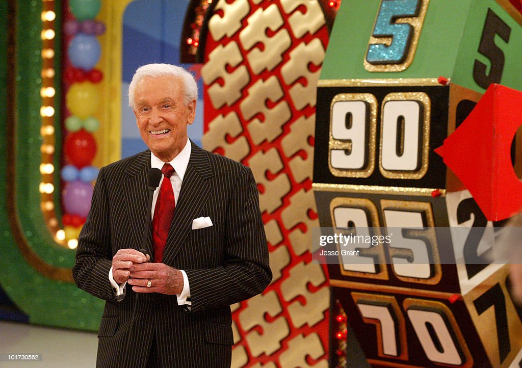 <a gi-track='captionPersonalityLinkClicked' href=/galleries/search?phrase=Bob+Barker&family=editorial&specificpeople=210681 ng-click='$event.stopPropagation()'>Bob Barker</a> during 'The Price is Right' 34th Season Premiere - Taping at CBS Television City in Los Angeles, California, United States.