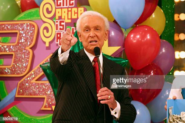 Bob Barker host of 'The Price is Right' appears on set during the taping of the 34th season premiere of 'The Price is Right' at CBS Television City...