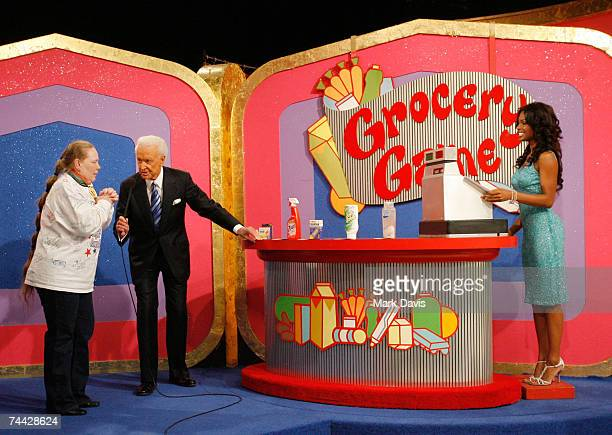 Bob Barker speaks with a participant during his last taping of 'The Price is Right' show held at the CBS television city studios on June 6 2007 in...