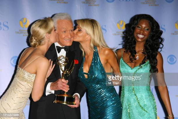 Bob Barker winner Outstanding Game Show Host for 'The Price is Right' and his Barker Beauties