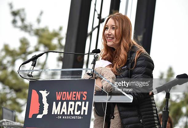 Bob Bland speaks onstage during the Women's March on Washington on January 21 2017 in Washington DC
