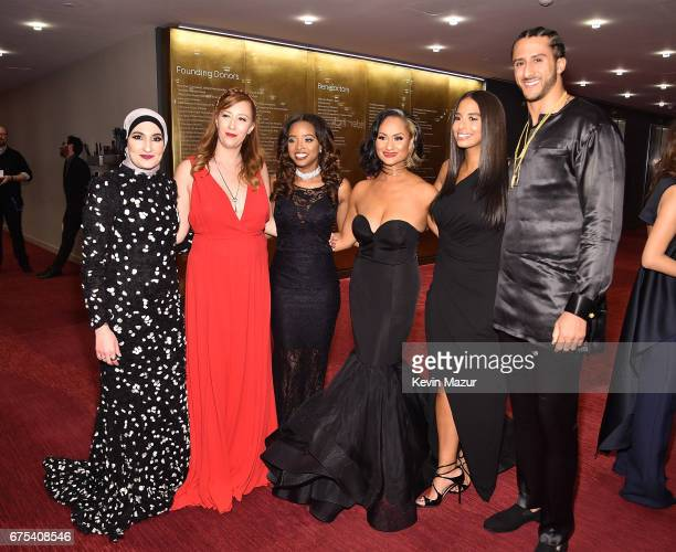 Bob Bland Tamika Mallory Carmen Perez Nessa and Colin Kaepernick attend 2017 Time 100 Gala at Jazz at Lincoln Center on April 25 2017 in New York City