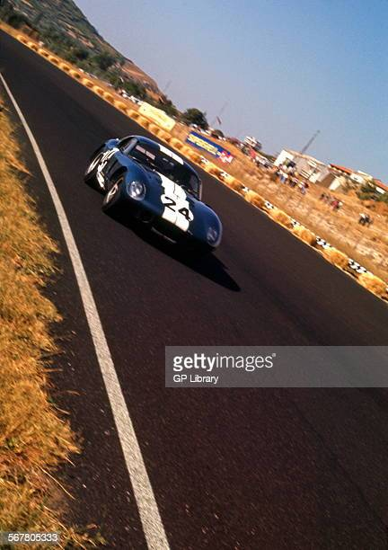 Bob Bondurant in a Shelby American Cobra Daytona Coupe Mediterranean Grand Prix at Enna Sicily 15 Aug 1965