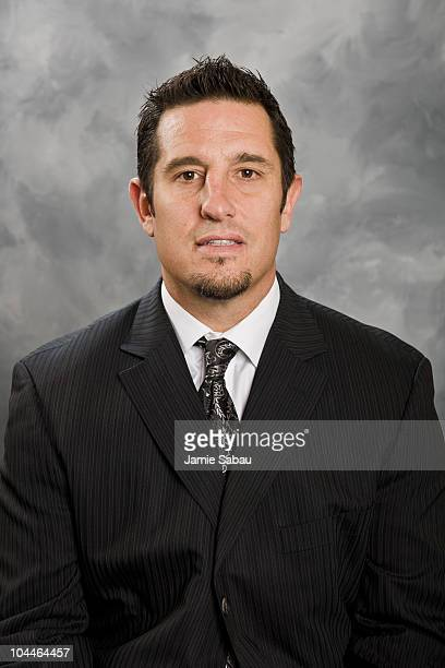 Bob Boughner of the Columbus Blue Jackets poses for his official headshot for the 20102011 NHL season at Nationwide Arena on September 18 2010 in...