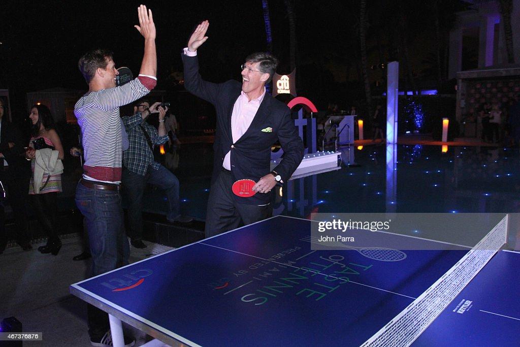 Bob Bryan (L) and Michael Corbat attend Taste Of Tennis Miami Presented By Citi at W South Beach on March 23, 2015 in Miami Beach, Florida.