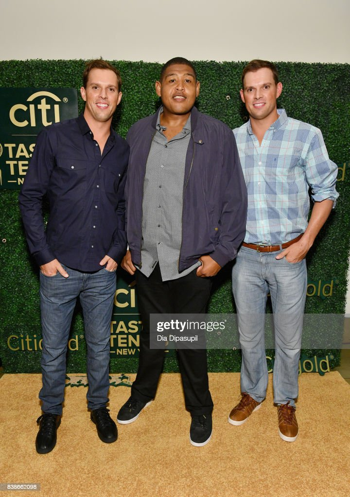 Bob Bryan, Omar Benson Miller and Mike Bryan attend Citi Taste Of Tennis at W New York on August 24, 2017 in New York City.