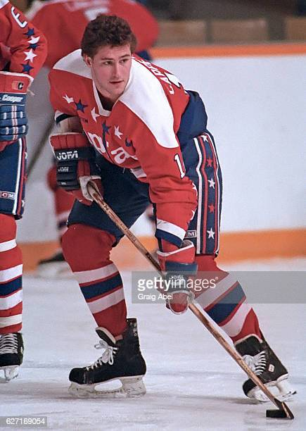 Bob Carpenter of the Washington Capitals skates in warmup prior to a game against the Toronto Maple Leafs on October 9 1991 at Maple Leafs Gardens in...