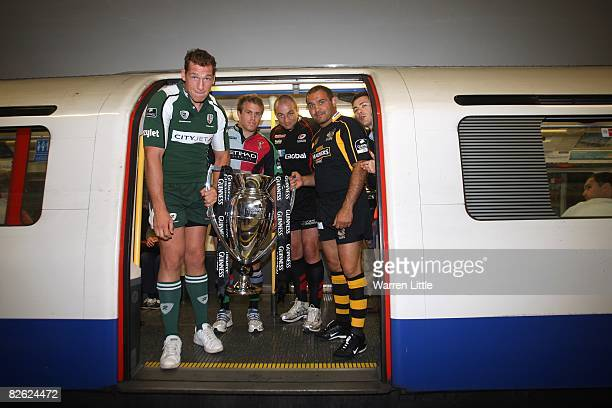 Bob Casey of London Irish Will Skinner of Harlequins Steve Borthwick of Saracens and Raphael Ibanez of London Wasps the captains of the London based...