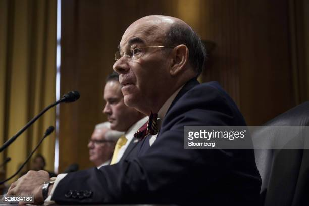 Bob Charrow general counsel of Health and Human Services nominee for US President Donald Trump speaks during a Senate Finance Committee nomination...
