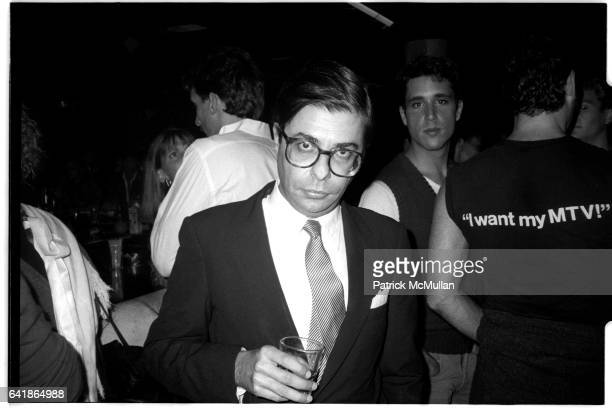 Bob Colacello at the 212 Party at Studio 54 December 1983