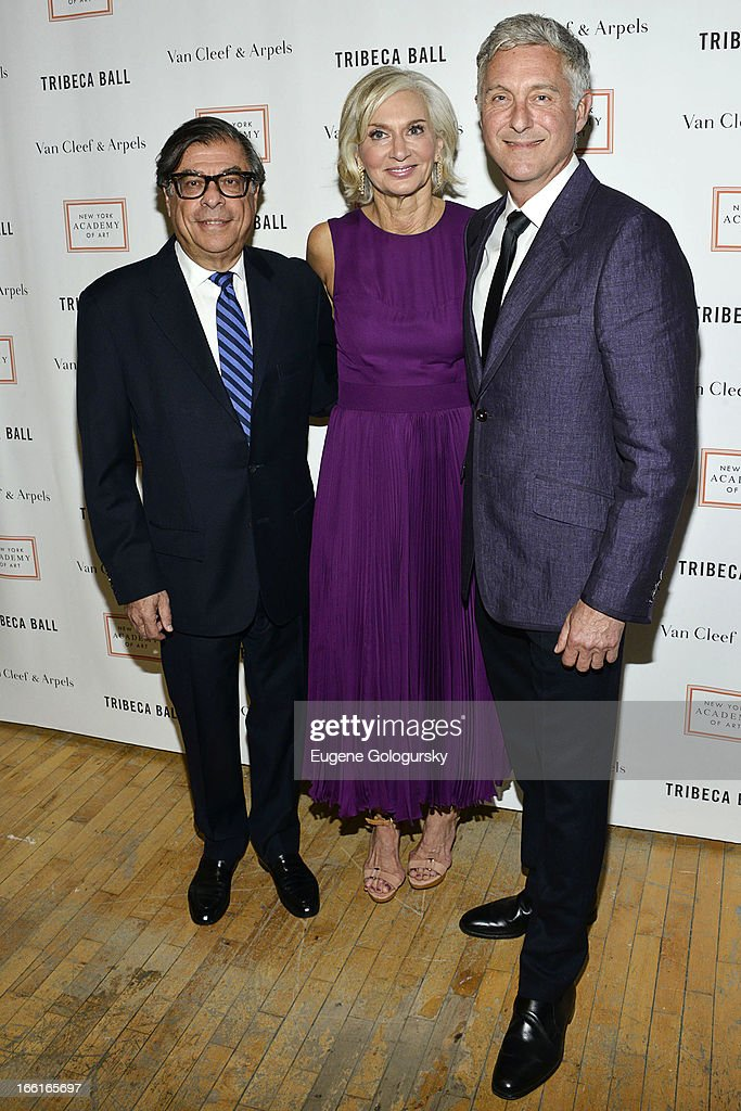 Bob Colacello, David Kratz and Eileen Guggenheim attend the 2013 Tribeca Ball at New York Academy of Art on April 8, 2013 in New York City.