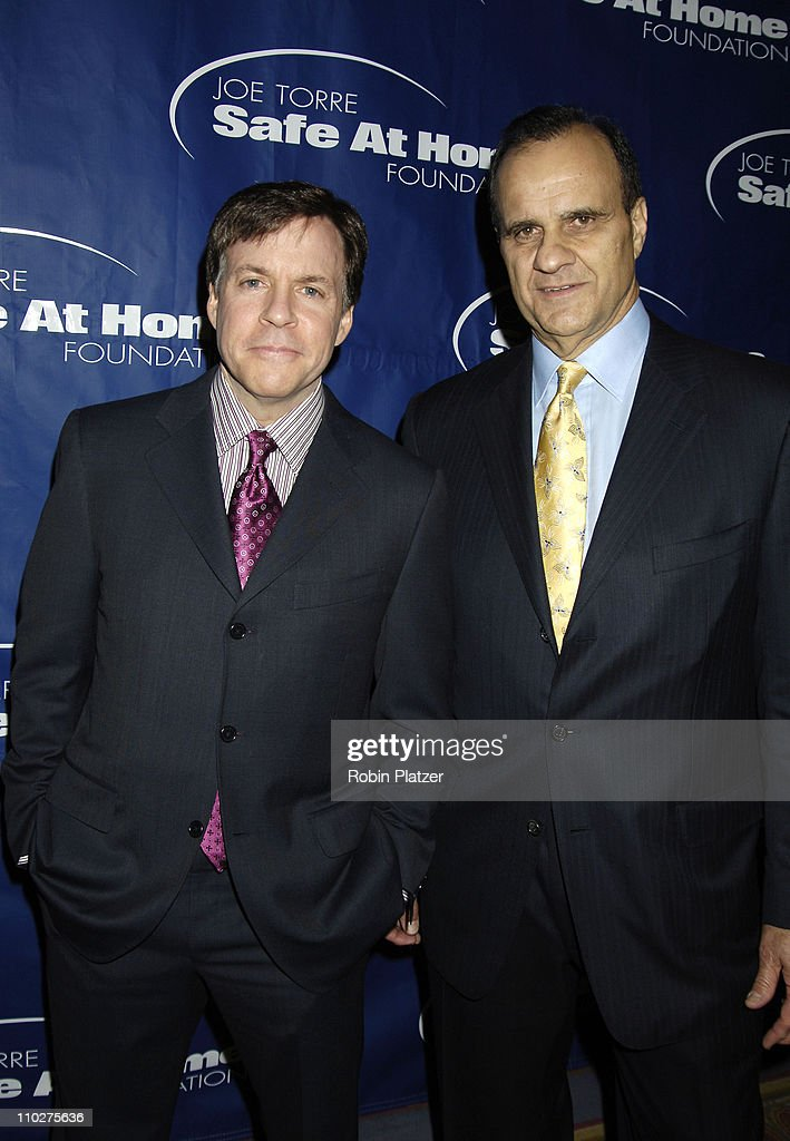 Bob Costas and Joe Torre during Joe Torre Safe at Home Foundation's Third Annual Gala at Pierre Hotel in New York City New York United States