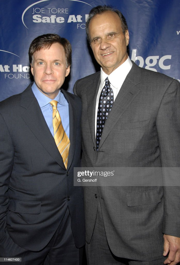 Bob Costas and Joe Torre during Joe Torre Safe At Home Foundation's Fourth Annual Gala at Pier Sixty in New York City New York United States