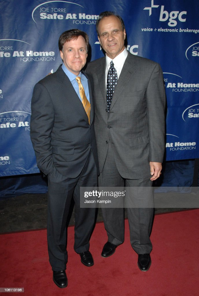 Bob Costas and Joe Torre during Joe Torre's Safe At Home Foundation's Fourth Annual Gala November 10 2006 at Chelsea Piers Pier 60 in New York City...