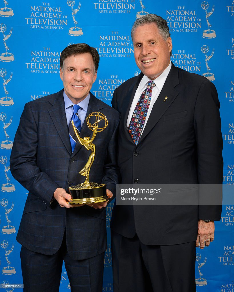 <a gi-track='captionPersonalityLinkClicked' href=/galleries/search?phrase=Bob+Costas&family=editorial&specificpeople=225170 ng-click='$event.stopPropagation()'>Bob Costas</a> and Malachy Wienges attend the 34th Annual Sports Emmy Awards at Frederick P. Rose Hall, Jazz at Lincoln Center on May 7, 2013 in New York City.