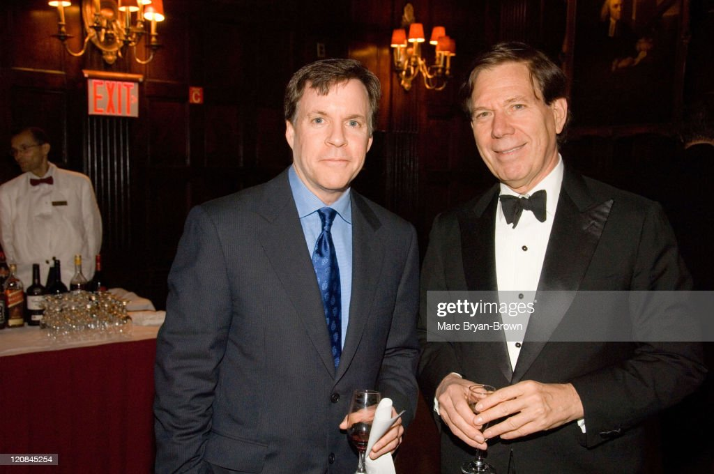 Bob Costas and Peter Price president of NATAS during The 2006 Trustees Emmy Award and Management Hall of Fame Gala at The Harvard Club in New York...