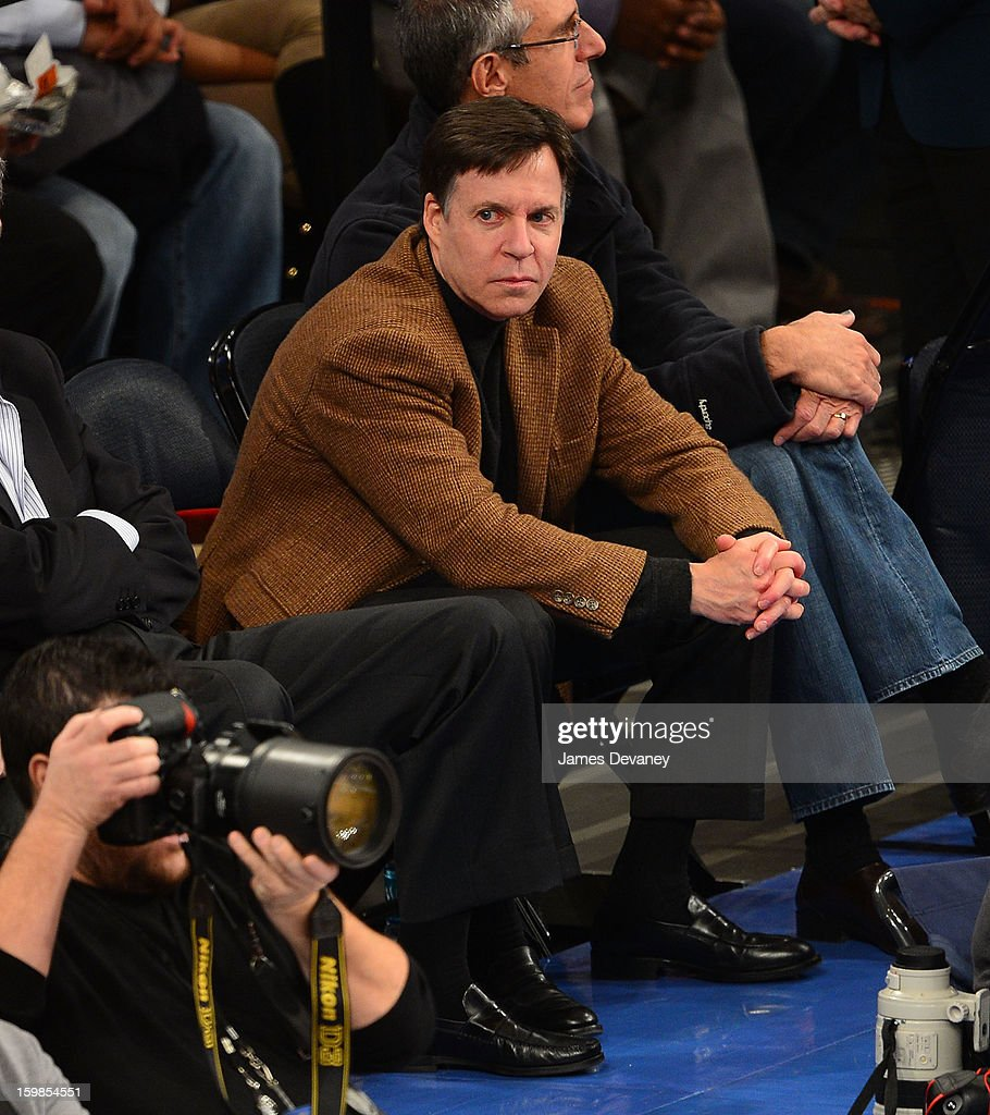 <a gi-track='captionPersonalityLinkClicked' href=/galleries/search?phrase=Bob+Costas&family=editorial&specificpeople=225170 ng-click='$event.stopPropagation()'>Bob Costas</a> attends the Brooklyn Nets vs New York Knicks game at Madison Square Garden on January 21, 2013 in New York City.